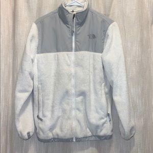 North Face Denali Jacket White/Gray